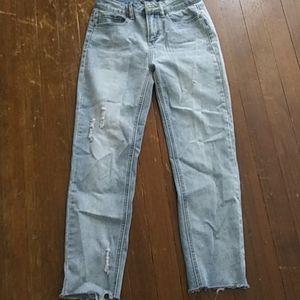 Indigo rain straight leg jeans